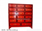 H120cm lacquer chest with 17 drawers