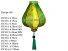 BS shape, 38cm silk lantern