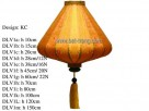 KC shape, h 45cm/20N silk lantern