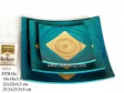 Colour, set 3pcs square plate