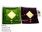 Colour, set 3pcs square plate (1set)