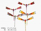 Bamboo, painted dragonfly (2pcs/2size)