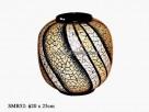 Parti-ciloured gourd vase